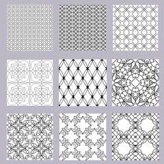 set of geometric patterns