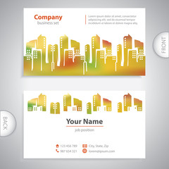 business card - Abstract architectural building - company presen