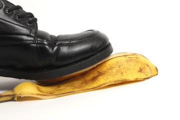 Tritt auf Bananenschale