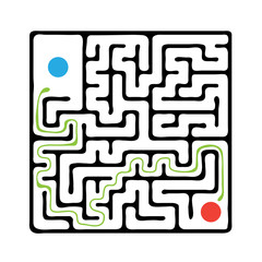 Black vector maze