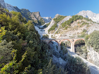 Panoramic views of Alpi Apuane Tuscany Italy