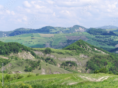 Panoramic views of the Tuscan-Emilian Apennines Italy