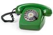 Green retro telephone - 79863313