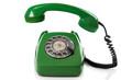 Leinwanddruck Bild - Green retro telephone