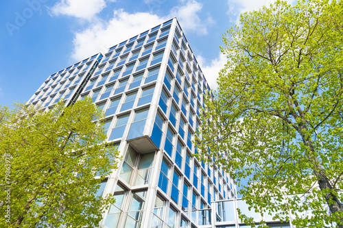 Leinwandbild Motiv moderne Bürogebäude in Deutschland