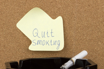 Sticky note quit smoking