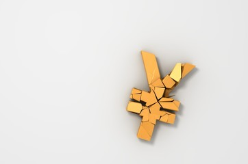 Broken Yen Symbol