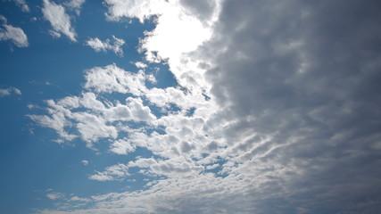 Spectacular sky clouds beautiful timelapse