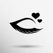 Vector illustration grunge beautiful female eye creamy - 79864966