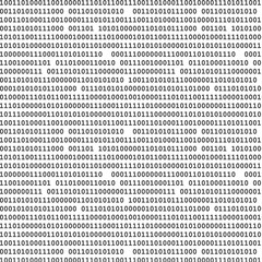Binary computer code seamless pattern vector background