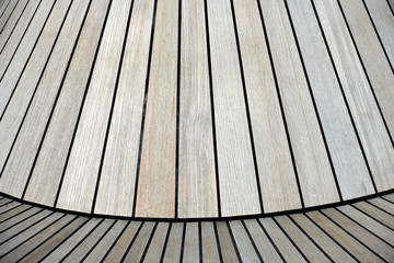 Wooden flooring with boards in line