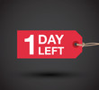 one day left sale sign - 79865951