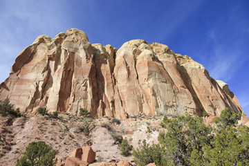Mountain and steep cliffs New Mexico