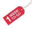 one week to go sign - 79866363