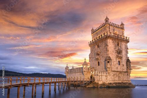 Plexiglas Oude gebouw Tour de Belém Lisbonne Portugal