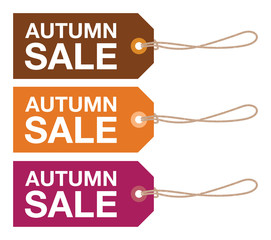autumn sale sign set