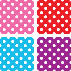 seamless polka dot background set