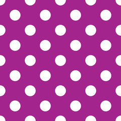 seamless purple polka dot background