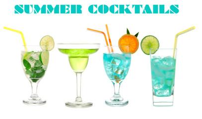 Green cocktails Blue Hawaiian Cosmopolitan Mojito tropical cockt