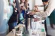 Leinwandbild Motiv Coffee break at business meeting