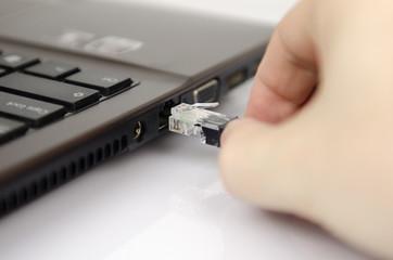 lan cable connect laptop