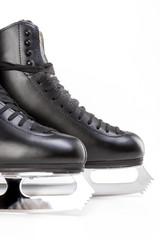Figure Skating Concept: Closeup Shot of Professional Mens Figure