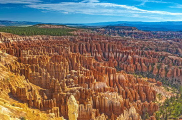 Aerial View of Rows Sandstone Pinnacles and Brown Cliffs of Bryc