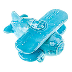 Ceramic blue airplane model