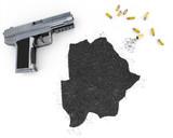 Gunpowder forming the shape of Botswana .(series) poster