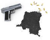 Gunpowder forming the shape of Democratic Republic of the Congo poster