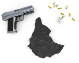 Gunpowder forming the shape of Ethiopia .(series) poster
