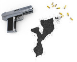 Gunpowder forming the shape of Mozambique .(series) poster
