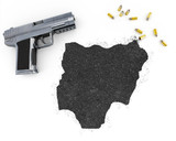 Gunpowder forming the shape of Nigeria .(series) poster
