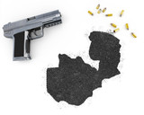 Gunpowder forming the shape of Zambia .(series) poster