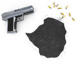 Gunpowder forming the shape of Zimbabwe .(series) poster