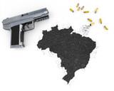 Gunpowder forming the shape of Brazil .(series) poster