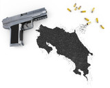 Gunpowder forming the shape of Costa Rica .(series) poster
