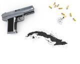 Gunpowder forming the shape of Cuba .(series) poster