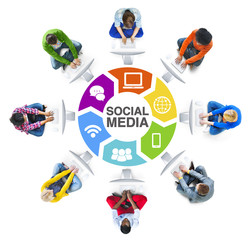 People Social Networking and Social Media Concept