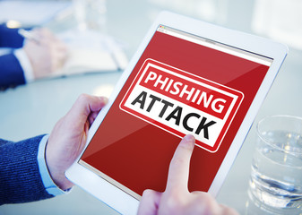 Businessman Phishing Attack Information Digital Devices Concept
