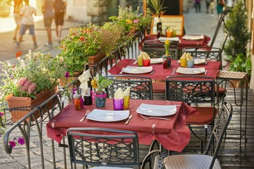Small cafe in Tuscany, Italy