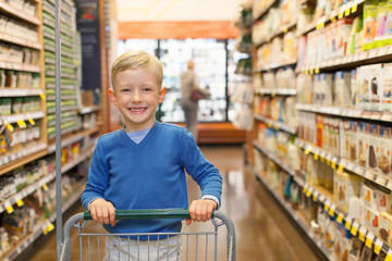child shopping