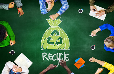 Reuse Recycle Ecology Environment Go Green Meeting Concept