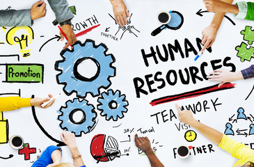 Human Resources Employment Job Teamwork Office Meeting Concept