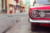 HAVANA - FEBRUARY 17: Classic car and antique buildings on Febru