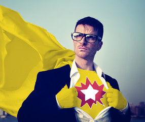 Star Strong Superhero Success Professional Empowerment Concept