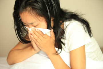 cough woman sneeze nose