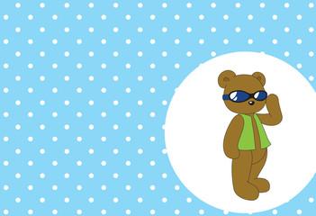 cut Bear funny With snow
