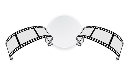 film strip round banner
