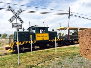 Riding the old Sugar Cane Train in Oahu, Hawaii